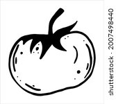tomato vector icon. black... | Shutterstock .eps vector #2007498440