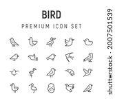 premium pack of bird line icons....