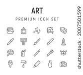 premium pack of art line icons. ...