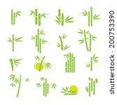 Green Bamboo Vector Symbol...