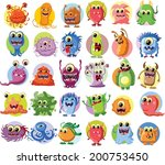 cartoon cute monsters and...   Shutterstock .eps vector #200753450
