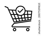 shopping cart and check mark... | Shutterstock .eps vector #2007539810