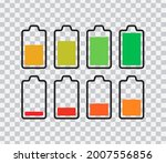phone battery icons isolated on ... | Shutterstock .eps vector #2007556856