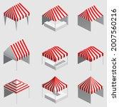 set isometric market stall ... | Shutterstock .eps vector #2007560216