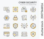 cybersecurity icons  such as... | Shutterstock .eps vector #2007566816