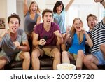 friends watching sport... | Shutterstock . vector #200759720