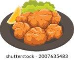 karaage  deep fried chicken... | Shutterstock .eps vector #2007635483