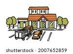 illustration of highway service ...   Shutterstock .eps vector #2007652859