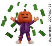 Halloween Scarecrow 3d Cartoon...