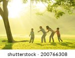 asian family playing with joy... | Shutterstock . vector #200766308