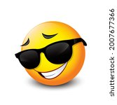 cute smiling emoticon wearing...   Shutterstock .eps vector #2007677366