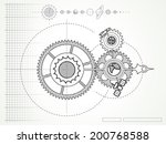 blueprint of space mechanic  ... | Shutterstock .eps vector #200768588
