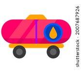 petroleum fuel transport tank... | Shutterstock .eps vector #2007687926