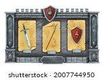 game interface gui stone menu...