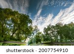 Sky And Trees Reflected In The...