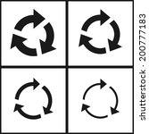 4 arrow sign reload refresh...   Shutterstock .eps vector #200777183