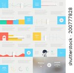 elements of infographics with... | Shutterstock .eps vector #200777828