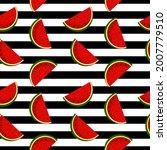 fruity seamless vector pattern...   Shutterstock .eps vector #2007779510