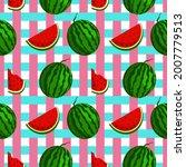 fruity seamless vector pattern...   Shutterstock .eps vector #2007779513
