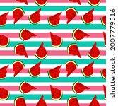 fruity seamless vector pattern...   Shutterstock .eps vector #2007779516