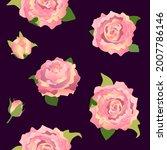peonies. endless background....   Shutterstock .eps vector #2007786146