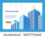 vector isometric homepage of... | Shutterstock .eps vector #2007791660