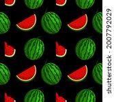vector watermelon background...   Shutterstock .eps vector #2007792029