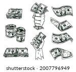 american cash notes vintage... | Shutterstock .eps vector #2007796949