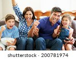 family watching soccer... | Shutterstock . vector #200781974