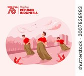 indonesia independence day...   Shutterstock .eps vector #2007828983