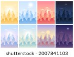 daytime cityscape with town...   Shutterstock .eps vector #2007841103