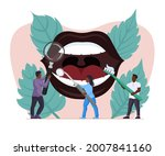 tooth treatment and cleaning in ... | Shutterstock .eps vector #2007841160