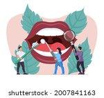 tiny dentist examining patient... | Shutterstock .eps vector #2007841163