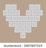 heart mood board or photo...   Shutterstock .eps vector #2007847319