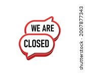closed sign on the front door . ... | Shutterstock .eps vector #2007877343