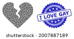 i love gay grunge stamp and...   Shutterstock .eps vector #2007887189