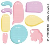 cute sticky note. stationary... | Shutterstock .eps vector #2007901286