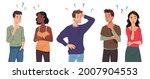 questioning people men  women... | Shutterstock .eps vector #2007904553