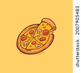pizza icon isolated vector... | Shutterstock .eps vector #2007905483