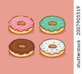 donut icon isolated vector... | Shutterstock .eps vector #2007905519