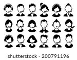set of boys and girls operator... | Shutterstock .eps vector #200791196
