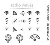 vector picture of wireless and... | Shutterstock .eps vector #200792603