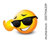 cute smiling emoticon wearing...   Shutterstock .eps vector #2007936209