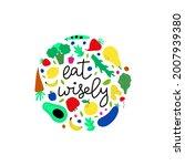 vegetarian and raw food diet... | Shutterstock . vector #2007939380