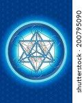 merkaba  metatrons cube  sacred ...   Shutterstock . vector #200795090