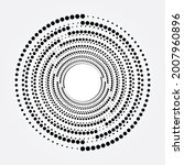 concentric reverse  halftone... | Shutterstock .eps vector #2007960896