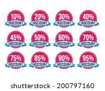 vintage classic discount badges | Shutterstock .eps vector #200797160