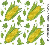 Colorful Vector Image Of Corn...