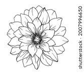 decorative flower isolated... | Shutterstock .eps vector #2007996650