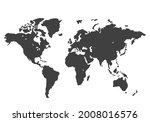 stylized world map. black power ... | Shutterstock .eps vector #2008016576